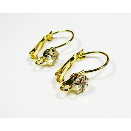 Hooks for the manufacture of an earring, gold color 24x13 mm