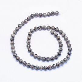 Jaspio beads 6 mm., 1 strand