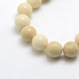 Natural Petrified Wood Beads 4 mm., 1 strand