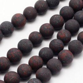 Бусины Jaspio натуральные 8 мм., 1 нитка