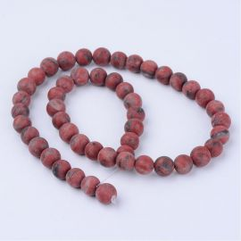 Natural Sesame Jaspio beads 8 mm., 1 strand