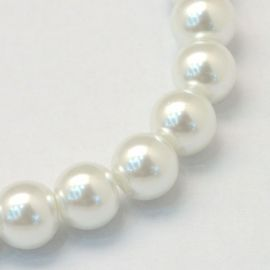 Glass beads pearls 3-4 mm., 1 strand