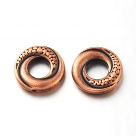 Decorative closed ring 15 mm., 6 pcs.