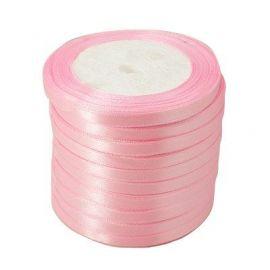 Satino juostelė, šviesiai rožinės spalvos, 6 mm ritėje apie 22 metrus