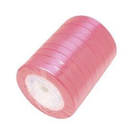 Satino juostelė, rožinės spalvos, 6 mm ritėje apie 22 metrus