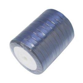 Satino juostelė, tamsiai mėlynos spalvos, 6 mm ritėje apie 22 metrus