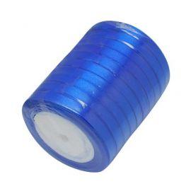 Satino juostelė, sodrios mėlynos spalvos, 6 mm ritėje apie 22 metrus