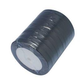 Satino juostelė, juodos spalvos, 6 mm ritėje apie 22 metrus