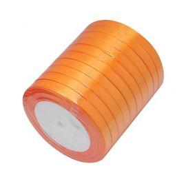 Satino juostelė, oranžinės spalvos, 6 mm ritėje apie 22 metrus