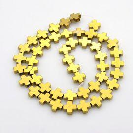 Synthetic hematite beads