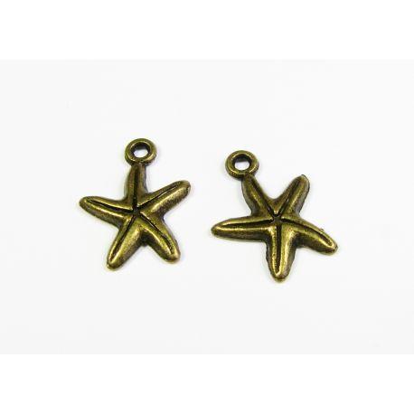 """Pakabukas """"Žvaigždė"""" bronzinės spalvos 17x13 mm"""