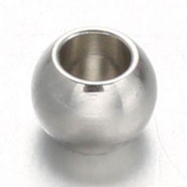 Nerūdijančio plieno 304 intarpas 8x6 mm., 10 vnt.
