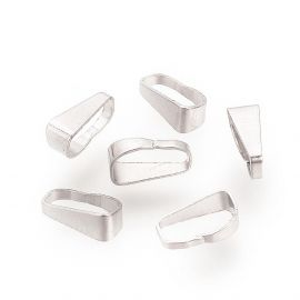 Stainless steel 304 pendant holder 7x2.5x3.5 mm., 6 pcs.