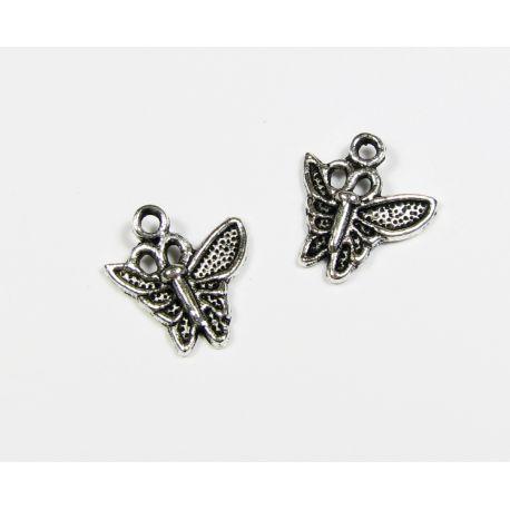 """Кулон """"Бабочка"""" состаренное серебро 14х15 мм."""