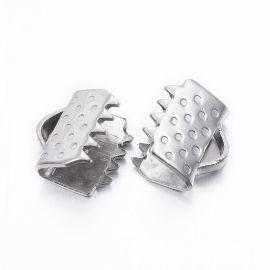 Nerūdijančio plieno 304 juostelių užspaudėjas 6x6,5x4,5 mm., 10 vnt.