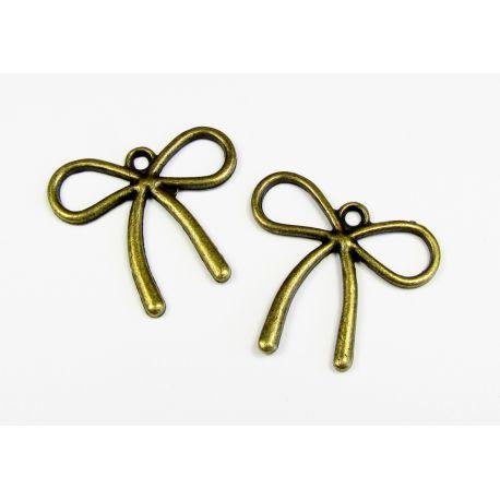 "Pendant ""Ribbon"" bronze color 30x30 mm"