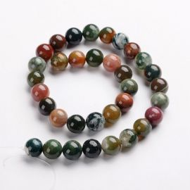 Natural Indian Aat beads 12 mm., 1 strand.