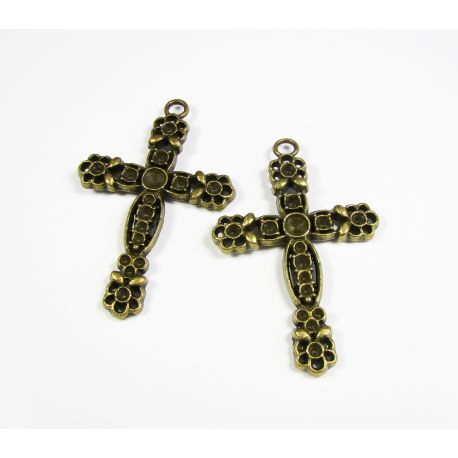 "Pendant ""Cross"" bronze color 58x38 mm"