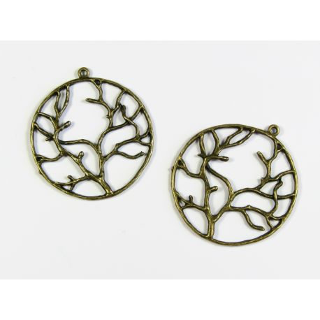 "Pendant ""Tree"" bronze color 44x40 mm"