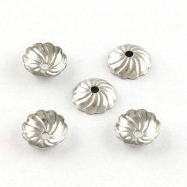 Stainless steel 304 cap 8x2 mm., 6 pcs.