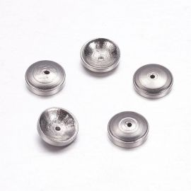 Stainless steel 304 cap 7x2 mm., 6 pcs.