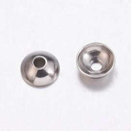 Stainless steel 304 cap 6 mm., 10 pcs.