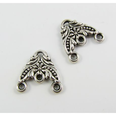 Distributor aged silver color 4 loops 14x15 mm