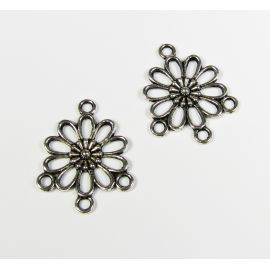 "Links connectors ""Flower"" 23x19 mm, 8 pcs."
