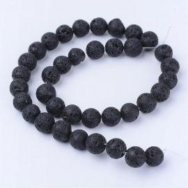 Dabiskās Lavas pērlītes 12-12,5 mm., 1 dzīsla