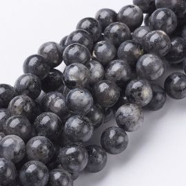 Norwegian Labradoritote beads, gray 10 mm., 1 strand