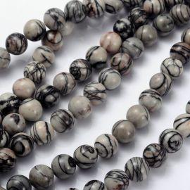 Natural Jaspio beads 10 mm., 1 strand