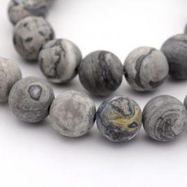 Natural Jaspio beads 8 mm., 1 strand