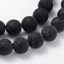Agato karoliukai 8 mm., 1 gija