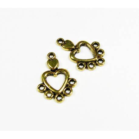 Distributor aged gold color 6 loops 19x13 mm