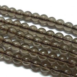 Imitation of smoke quartz 12 mm., 1 strand