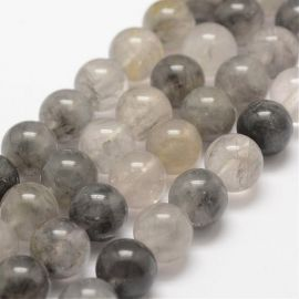 Natural quartz beads of rutil 10 mm., 1 strand