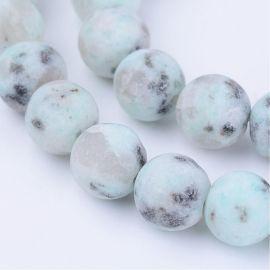 Natural Sesame Jaspis beads 8 mm., 1 strand