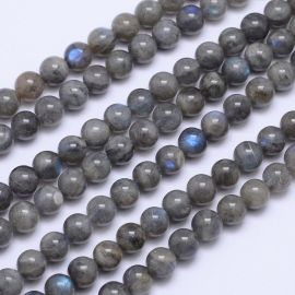 It's a good time. labradoritoite beads, gray with blue 8 mm.,1 strand