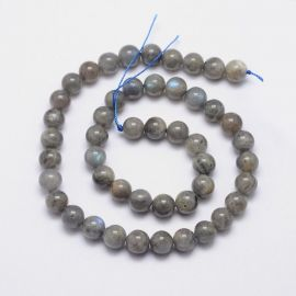 Natural labradorite beads 7.5-8 mm., 1 strand