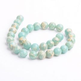 Larimar Bead Imitation 12 mm., 1 strand