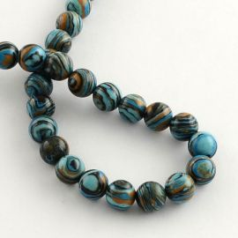 Imitation of stone beads 8 mm., 1 strand