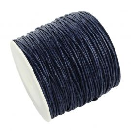 Waxed cotton cord 1.00 mm 1 m.
