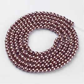 Stikla pērles pērles 4 mm, 1 pavediens