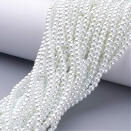 Glass beads pearls 4 mm, 1 strand