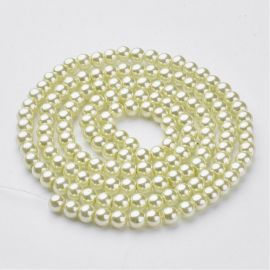Glass beads pearls 6 mm, 1 strand