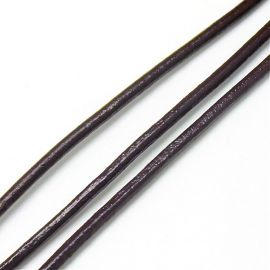 Natūralios odos virvutė 4 mm, 1 m.