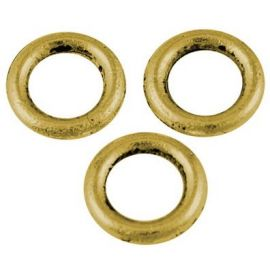 Decorative closed jump rings 8 mm., set of 4
