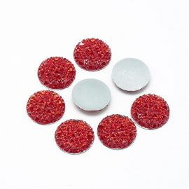 Acrylic cabochon, red 20 mm., 1 pcs.
