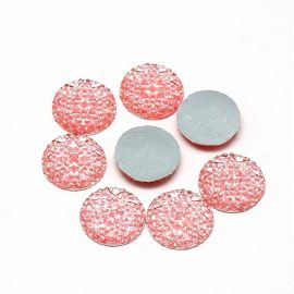 Acrylic cabochon, pink 25 mm., 1 pcs.