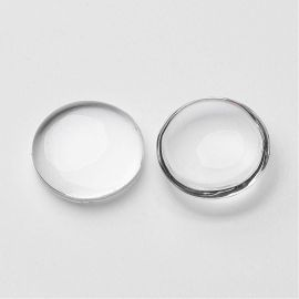 Glass cabochon 18 mm., 1 pcs.